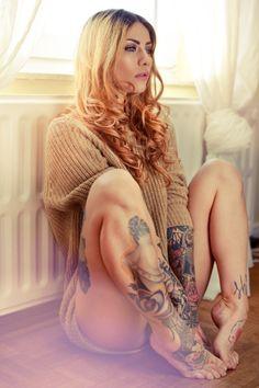 hot tattoed girl Found via girls!