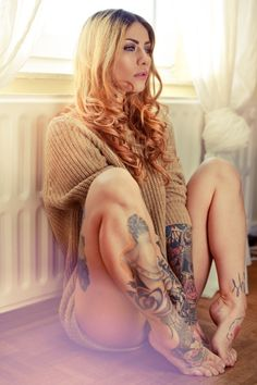 hot tattoed girl Found via girls!