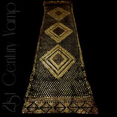 GOLD Assuit Shawl. Rare 1920s Art Deco. by 21stCenturyVamp on Etsy