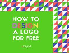 HOW TO DESIGN A LOGO FOR FREE · Digital Marketing Plan, Social Media Marketing, Logo Branding, Logos, Social Media Training, Online Logo, Initials Logo, Media Kit, Brand Guidelines