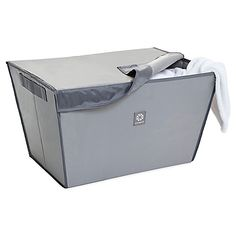 The Magnetic Catch-All Laundry Basket from Microdry® is an ingenious solution for keeping clean clothing from hitting the floor while unloading the washer or dryer.