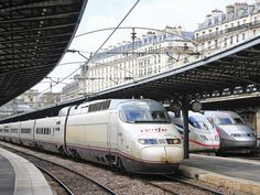 Spanish AVE, Germany ICE and French TGV high speed trains at Paris Est station (Photo: Christophe Masse).