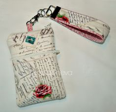 Made to Order Vintage French Post Cards Rose Words iPhone Phone Case  Zipper Closure with Wristlet iPhone Samsung Galaxy Android HTC by elsiegeneva on Etsy https://www.etsy.com/listing/188216189/made-to-order-vintage-french-post-cards