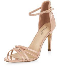 Nude Comfort Cross Strap Heeled Sandals  | New Look