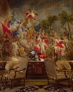 tapestry in Hotel Georges V, Paris. (sure hope this is still here post-renovation....)