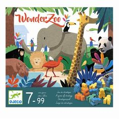 Djeco spil, Wonderzoo - Køb Djeco her - Lirum Larum Leg ApS Wonder Zoo, Dinosaur Stuffed Animal, Puzzle, Christmas Ornaments, Toys, Holiday Decor, Animals, Activity Toys, Puzzles