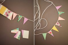 Bunting Cake Topper - clever method using washi tape  | honestly yum