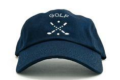 Ladies Baseball Hat with Golf Emblem Dolly Mama Designs.  Buy it @ ReadyGolf.com