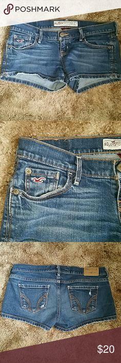 Hollister denim shorts Gently used Hollister Shorts