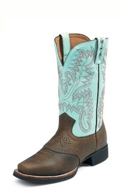 Justin Boots AQHA Foundation L4853 BAY APACHE W/SADDLE in a size 9C please. :)
