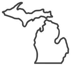Free Michigan outline with HOME on border, cricut or Silhouette design, vector image, pattern, map shape cutting file. Michigan Crafts, Map Of Michigan, Map Outline, State Outline, Michigan Tattoos, Printable Shapes, Free Stencils, Silhouette Design, Abandoned Castles