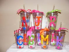 Personalized Tumblers w/Straw 16 oz. Teacher Appreciation, Birthday, Coaches, End of the Year Gifts. $10.00, via Etsy.