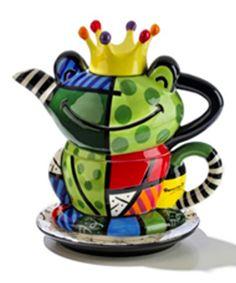 Romero Britto Teapots|Romero Britto Dinnerware|Romero Britto Table Top