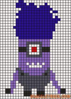 Purple evil minion