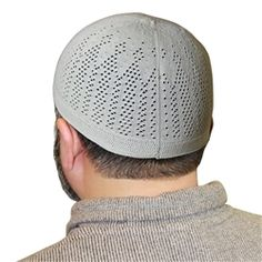 Cotton Knitted Kufi Muslim Prayer Mens Skull Cap Islamic Hat Knit Topi - Available in different Color