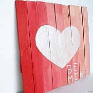 We all know pallets can be a pain to take a part, so I created a mini pallet display for Valentine's Day using contractor wood shims and wood paint! Very econom… Valentine Picture, Valentine Day Love, Valentine Crafts, Pallett Ideas, Diy Furniture Making, Pallet Display, Barn Wood Projects, Diy Projects, Palette Projects