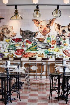 O Bairro do Avillez, o mais recente espaço de José Avillez, fica em pleno Chiado, na Rua Nova da Trindade, em Lisboa. Amplo e