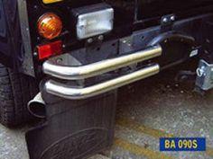 Rear Tubular Bumperettes (pr) - stainless steel finish