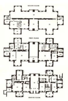 All three floor plans. Hardwick Hall