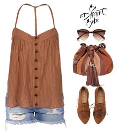 """Untitled #357"" by jovana-p-com ❤ liked on Polyvore featuring T-Bags Los Angeles, River Island and See by Chloé"