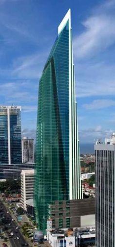Panama City Central Tower Building, Panamy City by Pinzon Lozano Architect :: 70 floors, height 320m