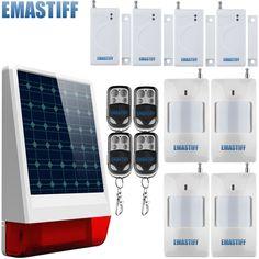 check price protection high quality doorwindow entry alarm wireless burglar solar alarm system #door #security #devices