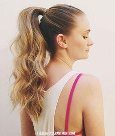 Post-workout ponytail