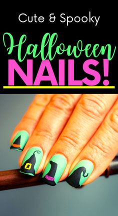Get in the spooky spirit with these cute Halloween nail ideas! Cute Halloween nail designs! Easy Halloween nails diy! Easy Halloween nail designs. Diy Halloween nails easy. Diy Nail Designs, Short Nail Designs, Simple Nail Designs, Cute Halloween Nails, Halloween Nail Designs, Spooky Halloween, Cute Short Nails, Cute Nails, Nail Art Diy