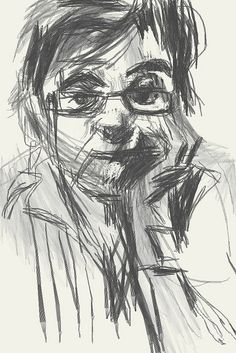 iphone drawing - Ana by Manuel San-Payo, via Flickr