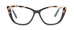 Affordable Fashion Glasses Cat Eye Eyeglasses Women Dolled Up Ebony Granite Front