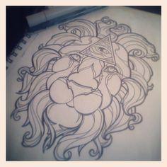 Lion Tattoo Design - Thigh by AlicornsAndUnigators