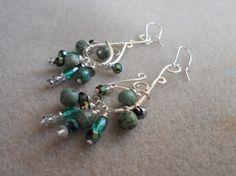 Turquoise earrings by SunshinesPush on Etsy