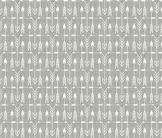 Archery silver fabric by littlerhodydesign on Spoonflower - custom fabric