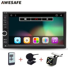 """AWESAFE 2 Din 7"""" Car DVD Radio Player 1024*600 Android 6.0 Universal Car Tap PC Tablet For Nissan GPS BT Stereo Audio Player"""