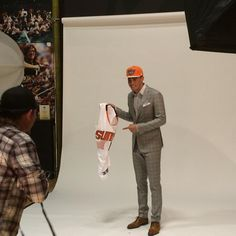 Behind the scenes of @DevinBook's first photoshoot!