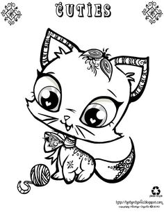 Cat  Creative Cuties  heather chavez coloring pages