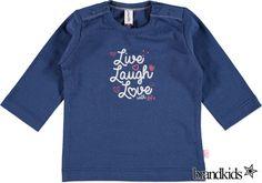 Babyface Longsleeve voor meisjes donkerblauw - Meisjes T-shirts lange mouw €11,95