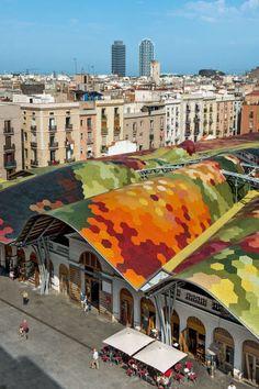 Entdeckungen, Wochenende, Zehn, Momente, Barcelona, Mercat, Santa, Catarina:, Marktbeobachtung, Pfirsich.