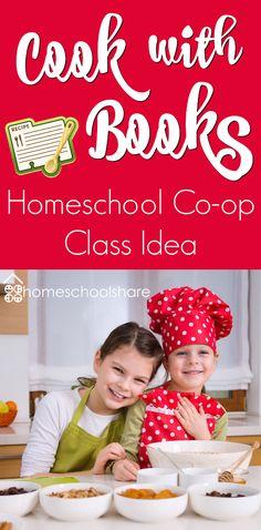 Cook with Books Homeschool Co-op Class Idea from The Homeschool Share Blog