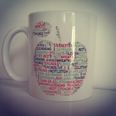 Teachers Word Art Mug