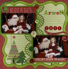 Arwen and Santa - Scrapbook.com
