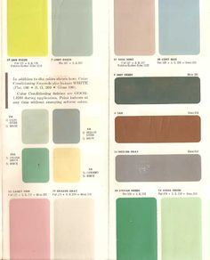 AUTHENTIC 1950s INTERIOR PAINT COLORS : PopuluxeBooks, Retro Info For Your Mod Style