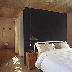 obsessed with bedrooms with black walls