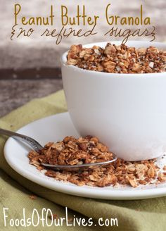 Peanut Butter Granola {no refined sugar}
