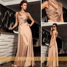 cheap evening dresschampagne elegant mother of the brides dresses party dresses prom dresses elegant long evening dresses 2014