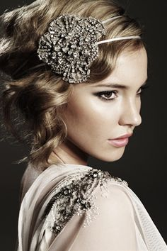 HARLOW HEADPIECE WITH IVORY RIBBON