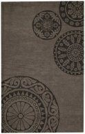 Albemarle-Medallion Grey Contemporary Hand Tufted Wool Rug