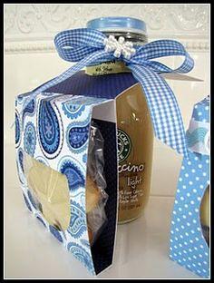 Drink + cookie packaging