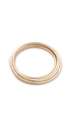 Gabriela Artigas Yellow Simple Band Rings - Yellow Gold