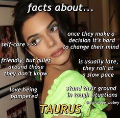 Zodiac Signs Chart, Zodiac Sign Traits, Zodiac Signs Astrology, Zodiac Star Signs, Taurus Memes, Taurus Quotes, Taurus Facts, Taurus Funny, Astrology Taurus